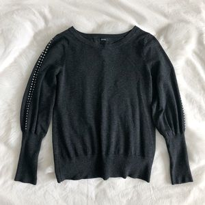 Alfani charcoal grommet detail sweater